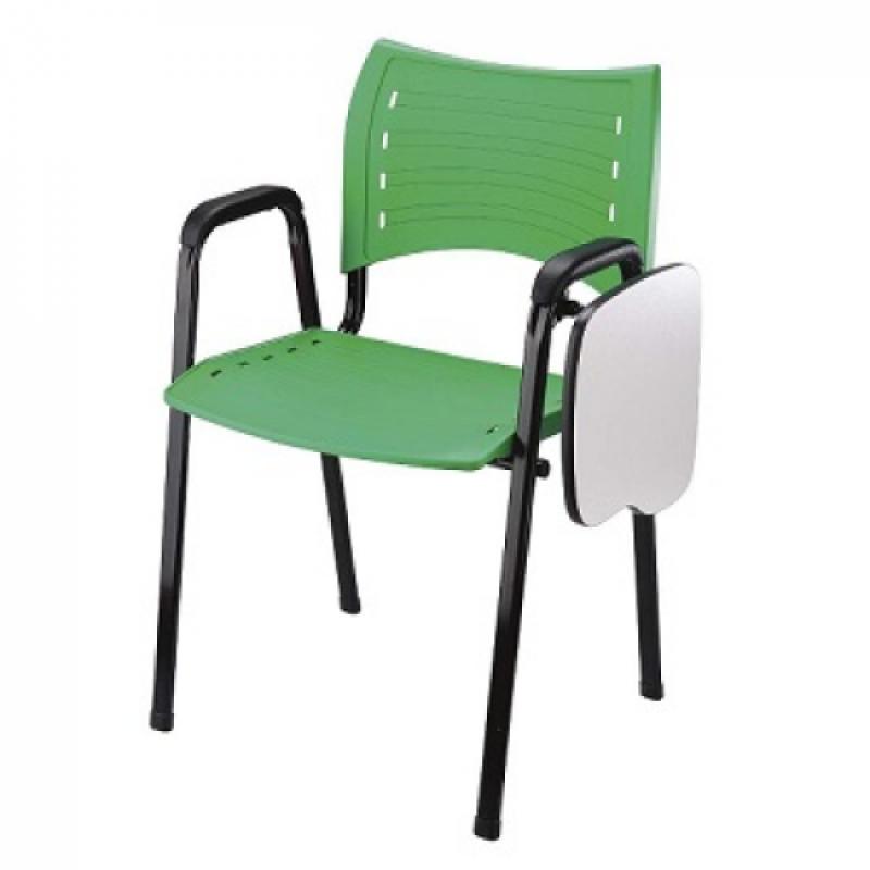 Cadeira Universitária com Prancheta Dobrável Baia - Cadeira Universitária Estofada com Prancheta