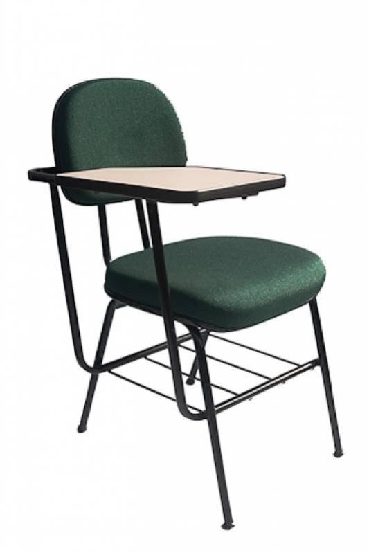 Cadeira Universitária com Prancheta Escamoteável Cotar Zona Industrial Tupy - Cadeira Universitária Estofada com Prancheta