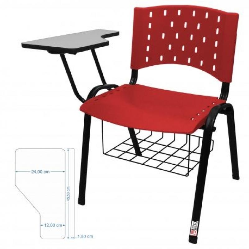 Cadeira Universitária em Polipropileno Boa Vista - Cadeira Universitária Estofada com Prancheta