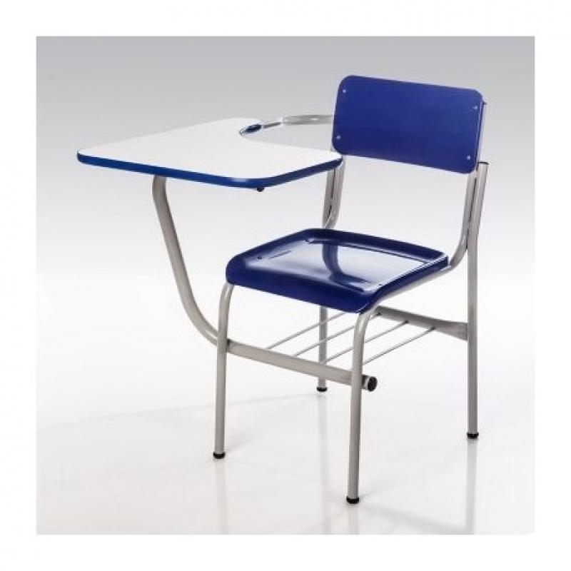 Cadeiras Universitária com Prancheta Barra Rio - Cadeira Universitária Estofada com Prancheta