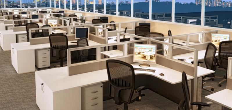 Comprar Estação de Trabalho Escritório Jardim Blumenau - Estação de Trabalho 4 Lugares