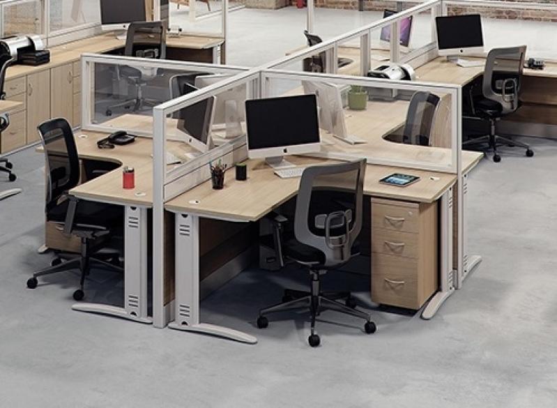 Estação Trabalho Preço Vila Nova - Estação de Trabalho 4 Lugares