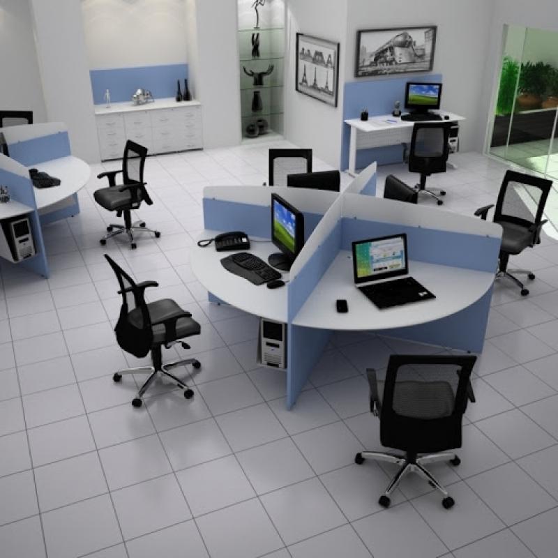 Fábrica de Mesas Estação de Trabalho Profipo - Estação de Trabalho 4 Lugares