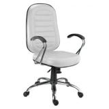 cadeira escritório branca Ilha da Figueira