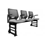 cadeira longarina com assento rebatível valor Major Vieira