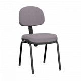 cadeira secretária giratória com braços reguláveis preta preço Três Rios Norte