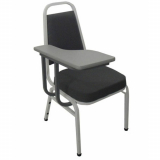 cadeira universitária estofada com prancheta cotar Salseiros