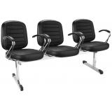 cadeiras longarina estofada Nova Brasília