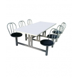 empresa de mesa com cadeira acoplada para refeitório Corupá