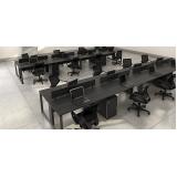 estação de trabalho home office