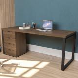 fabricante de mesa para escritório com gaveta Rio Molha
