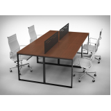fabricante de mesa para escritório plataforma 2 lugares Centro