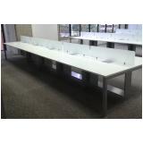 fabricante de mesa plataforma 6 lugares Canoinhas