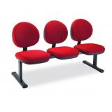 fornecedor de cadeira tripla recepção Santa Luzia