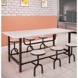 mesa com cadeira acoplada para refeitório preços Garuva