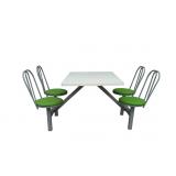 mesa com cadeira acoplada para refeitório Araquari