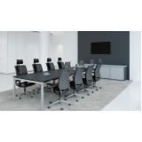 mesa de reunião escritório sob medida Parque Malwee