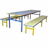 mesa para refeitório 8 lugares Ilha da Figueira