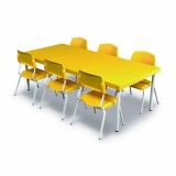 mesa para refeitório com bancos escamoteáveis 8 lugares preços Espinheiros