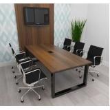 mesa para sala de reunião Água Verde