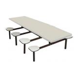 mesa refeitório branca