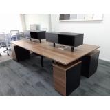 mesas para escritório plataforma 2 lugares Vila Lenzi