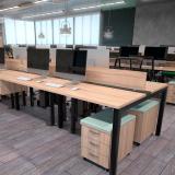 mesas plataforma dupla de madeira Blumenau