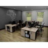 mesa plataforma dupla em madeira
