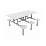 mesas refeitório branca Monte Castelo