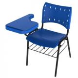 venda de cadeira universitária azul Canoinhas