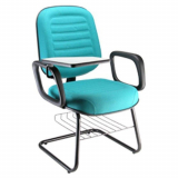 venda de cadeira universitária estofada com prancheta Itaum