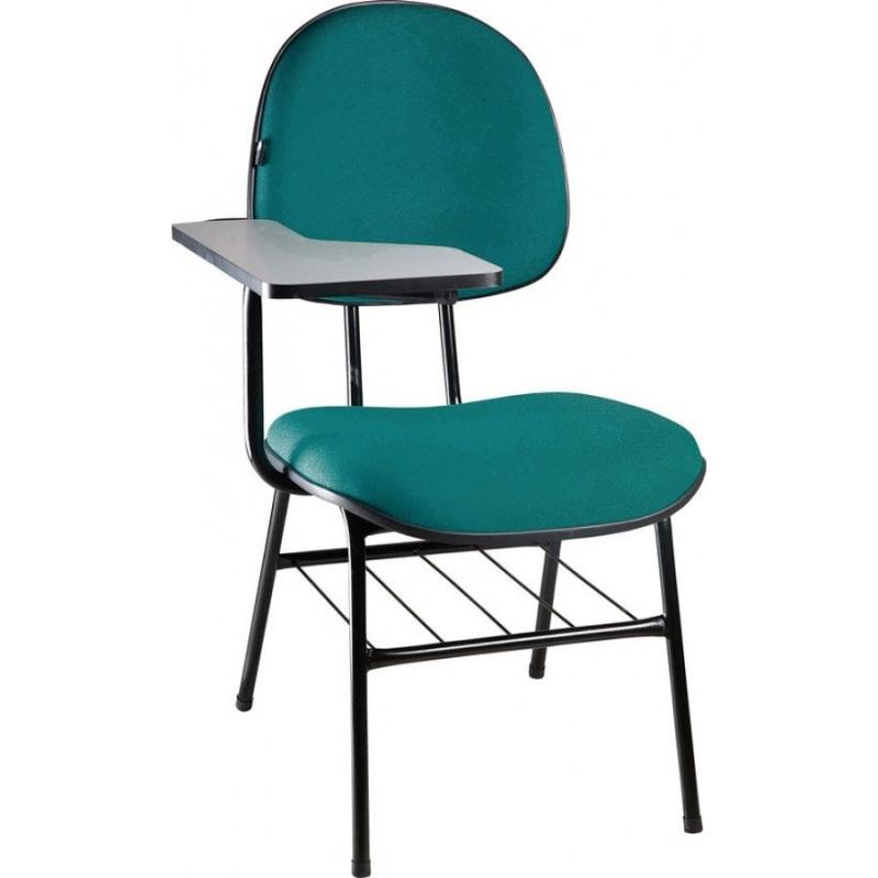 Venda de Cadeira Universitária Empilhável Cidade Nova - Cadeira Universitária Estofada com Prancheta